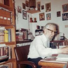 отец Георги Флоровски в университета Принстън