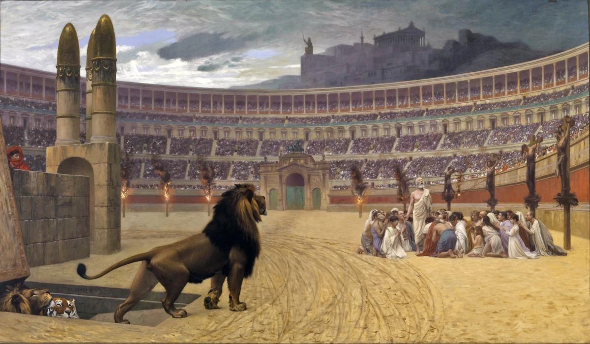 Арената на лъвовете и арената на Христос