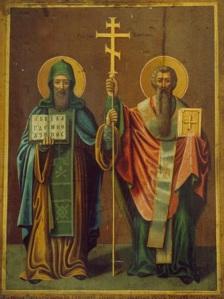 Св. Кирил и Методий, икона на Г. Журавльов