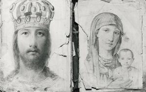 Христос и св. Богородица, рисунки от нач. на 20 в.