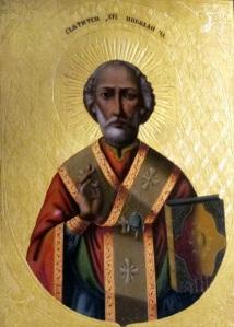Икона на св. Николай Чудотворец, рисувана от Г. Журавльов и поднесена в дар на престолонаследника. Съхранява се в Ермитажа