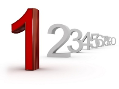 number one (image can be used for printing or web)